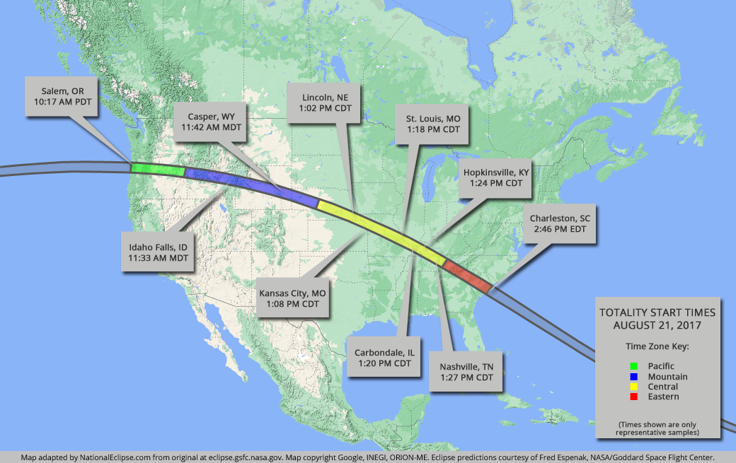 National Eclipse Eclipse Maps August 21 2017 Total Solar Eclipse